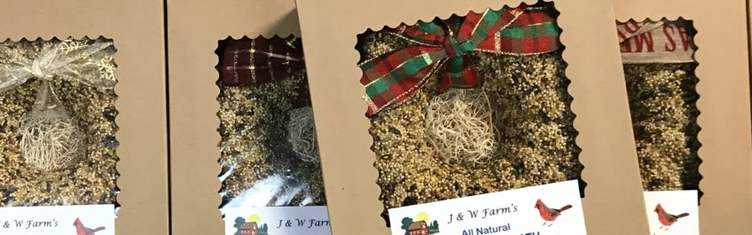 All Natural Birdseed Wreaths from J & W Farms available at The Virginia Farmhouse