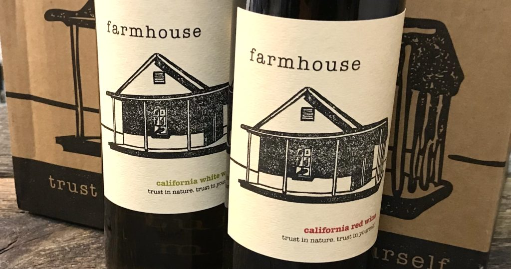 "Bottles of ""Farmhouse"" Red and White Wines from Cline Cellars available at The Virginia Farmhouse"