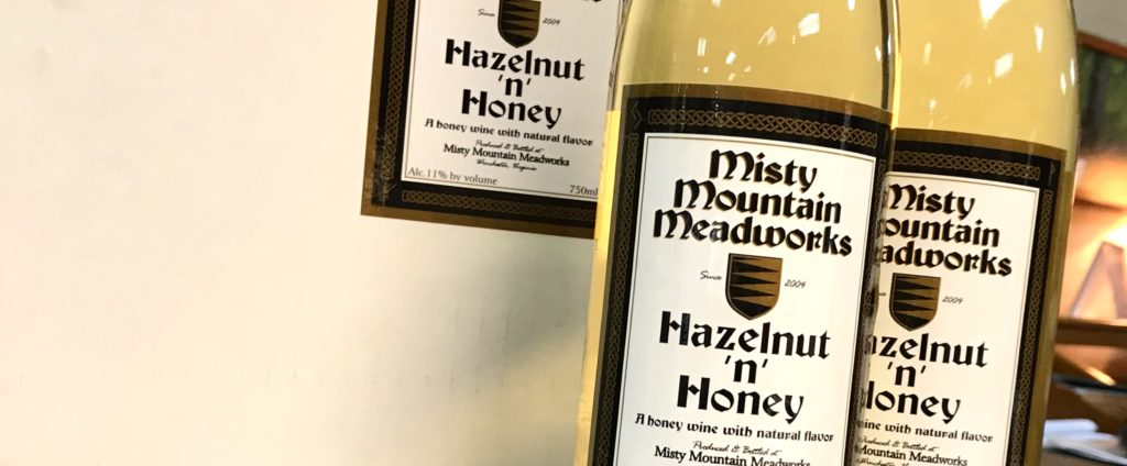 Hazelnut flavored mead from Misty Mountain mEadworks available at The Virginia Farmhouse