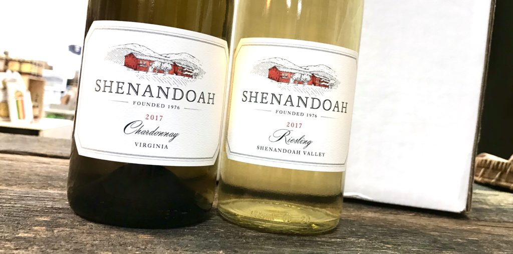 Chardonnay and Riesling from Shenandoah Vineyards are now available at The Virginia Farmhouse
