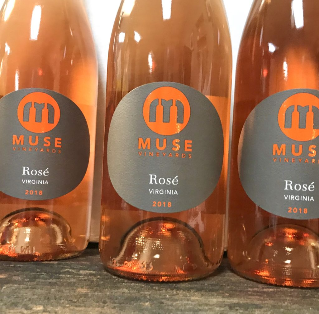 three bottles of Muse Rose
