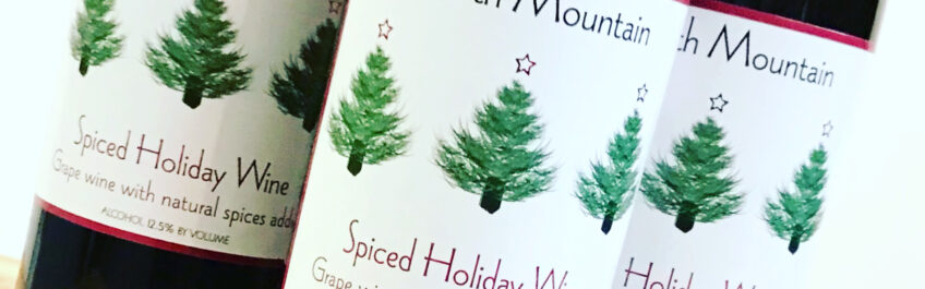 Bottles of Spiced Holiday Wine from North Mountain Vineyard available for sale at The Virginia Farmhouse