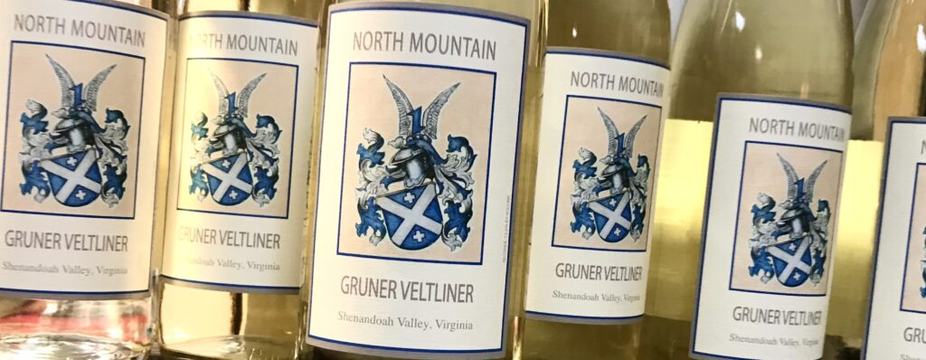 Bottles of Gruner Veltliner from North Mountain Vineyard and Winery available for sale at The Virginia Farmhouse