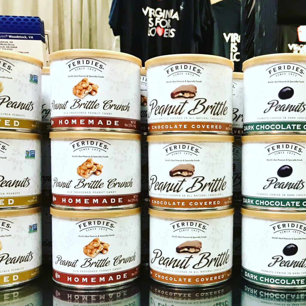 Virginia Peanuts and Candies from Feridies for sale at The Virginia Farmhouse