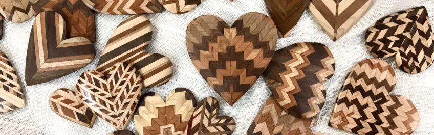 Wildwood Hearts hand made by Bruce Rosenwasser available for sale at The Virginia Farmhouse