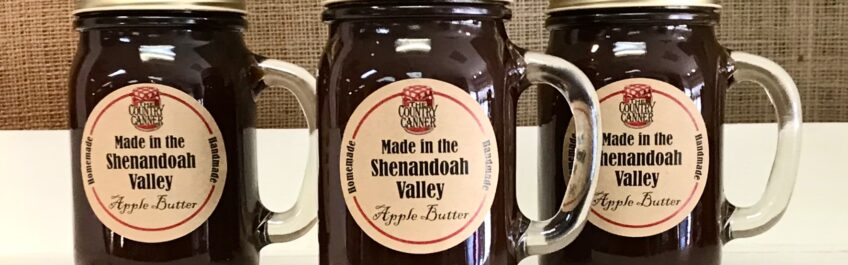 Jars of Apple Butter from The Country Canner available for sale at The Virginia Farmhouse
