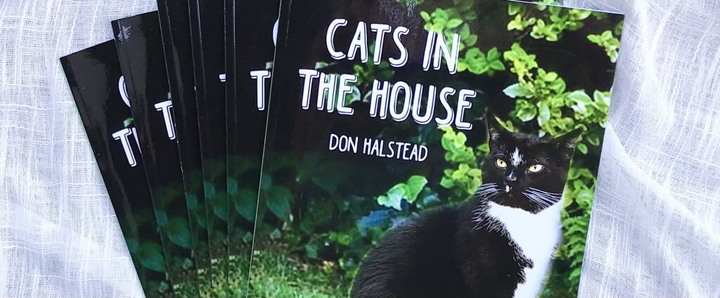 """Copies of """"Cats In The House"""" a children's book by Local Author Don Halstead available for sale at The Virginia Farmhouse"""